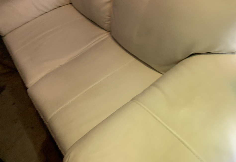 White Leather 2 Seater Couch