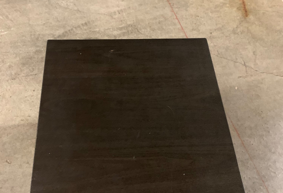 Small brown side table
