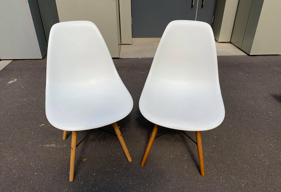 Set 2x of White Dining Chairs