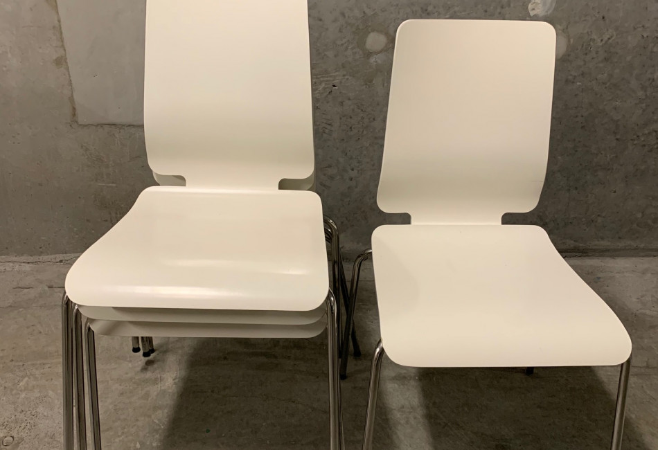 White Dining Chairs x4