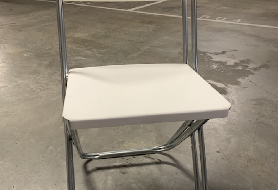 A set of plastic chairs