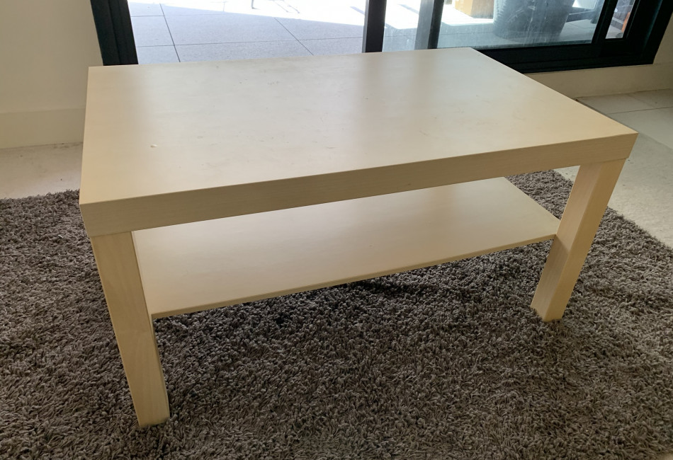 Wooden cream colour coffee table