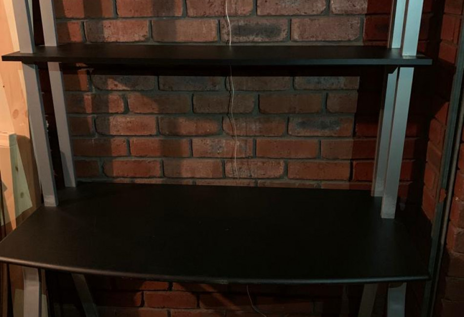 Study Desk With Shelving - Navy Blue