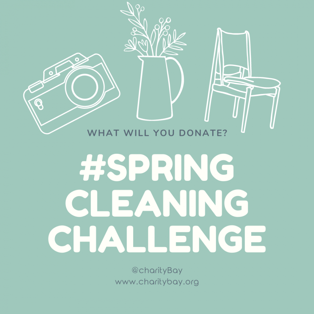 Join the charityBay #SPRINGCLEANINGCHALLENGE