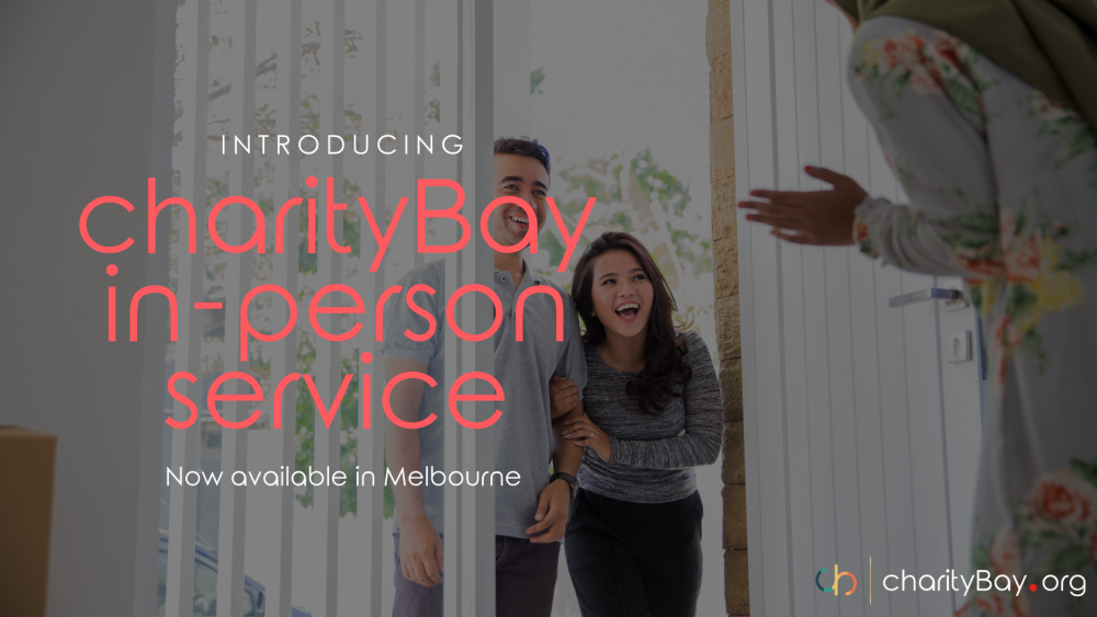 charityBay in-person service is now available in Melbourne!
