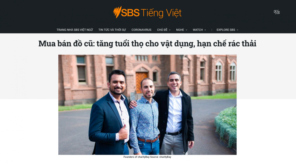 charityBay featured on SBS Vietnamese